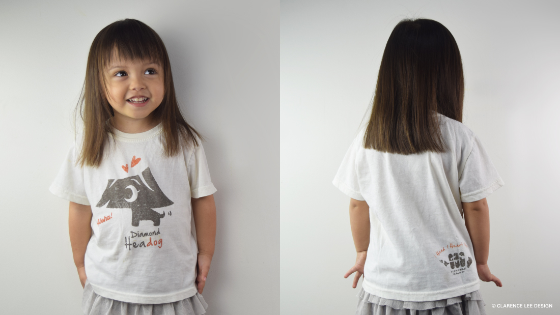 Kid's Tshirt with 111-Hawaii character mascot
