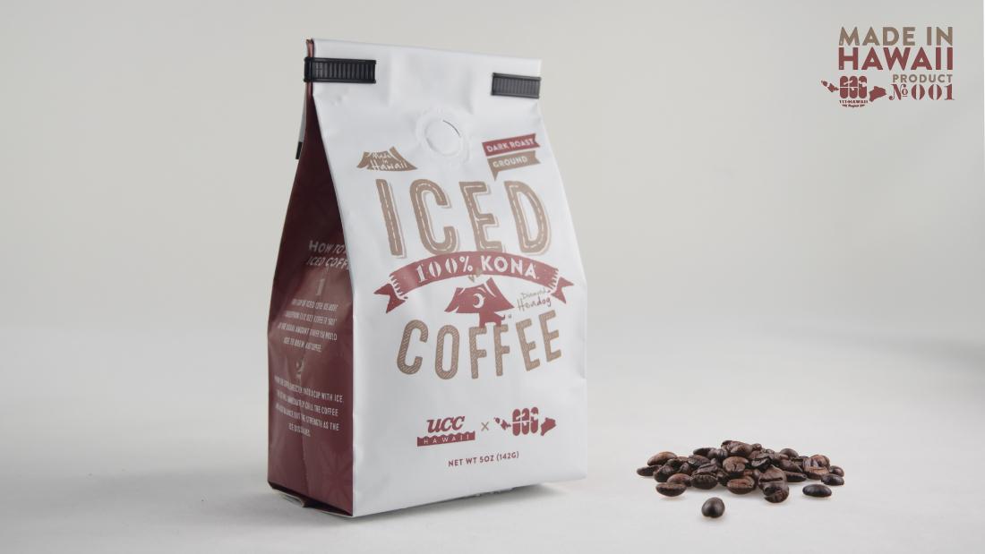 100% Kona Iced coffee