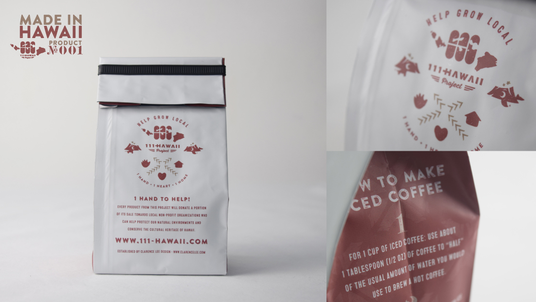 Directions of how to brew a tasty iced coffee, charitable product indication