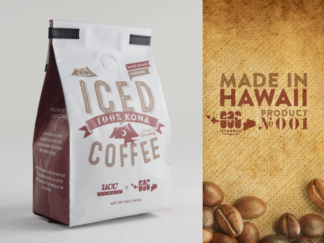 100% Kona Iced coffee