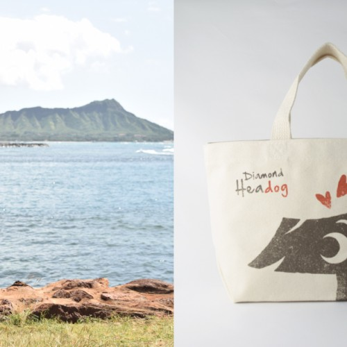 tote bag with 111-Hawaii character mascot