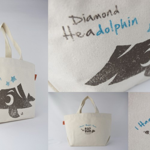 Diamond Headolphin tote bag made in Hawaii