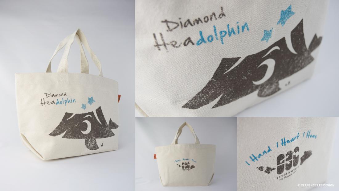 Diamond Headolphin tote bag made in Hawaii