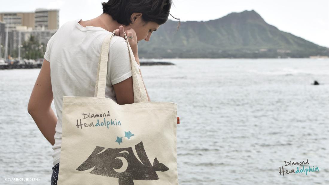 ハワイ土産のかわいいキャラクターのトートバッグ