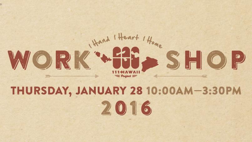 111-HAWAII Workshop 2016