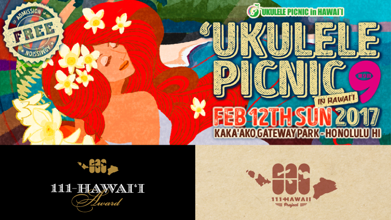Ukulele picnic in Hawaii
